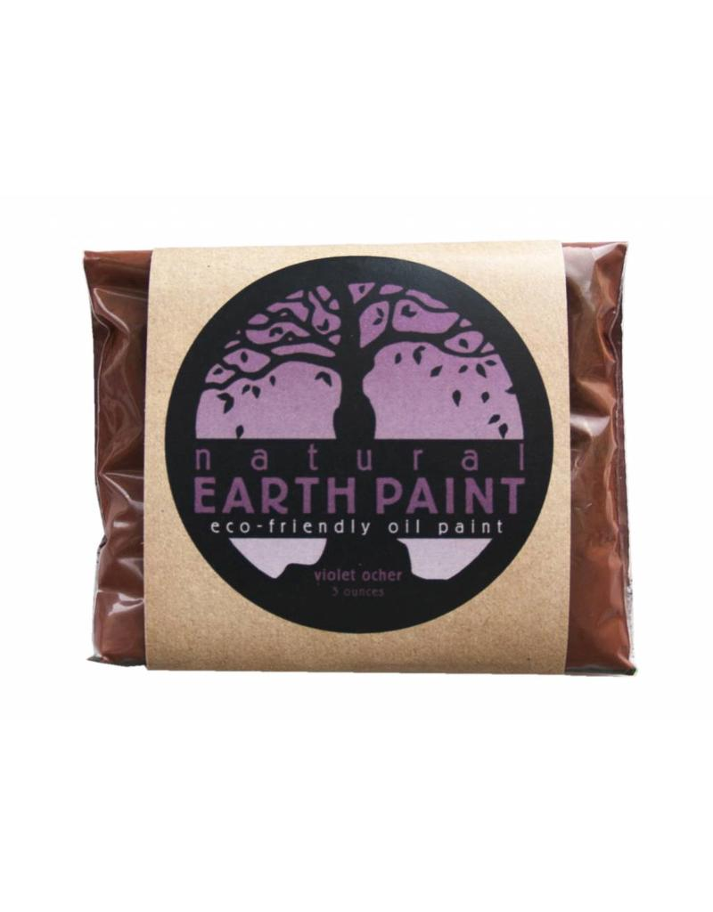 Natural Earth Oil paint made of earth and mineral pigments Violet Ocher.