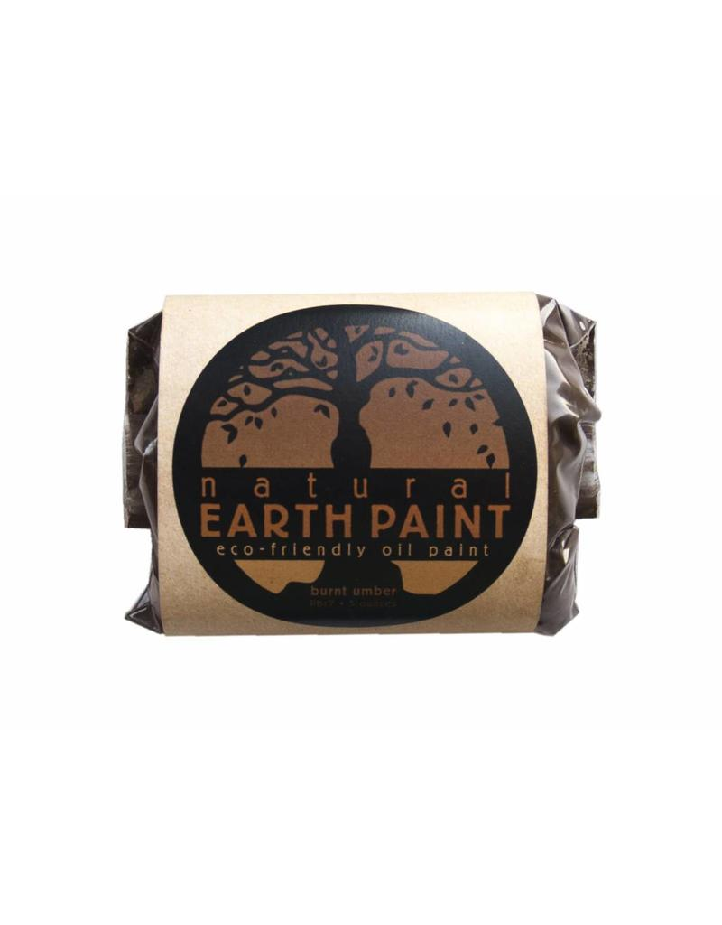 Natural Earth Oil paint made of earth and minerals Burnt Umber
