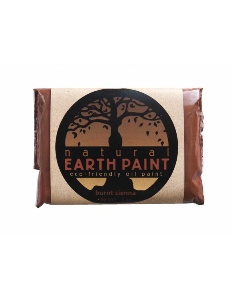 Natural Earth Oil paint made of earth and mineral pigments Burnt Sienna.