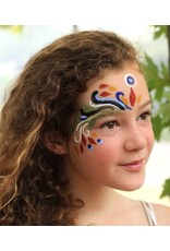 Natural Face paint and Body Paint Individual jar orange