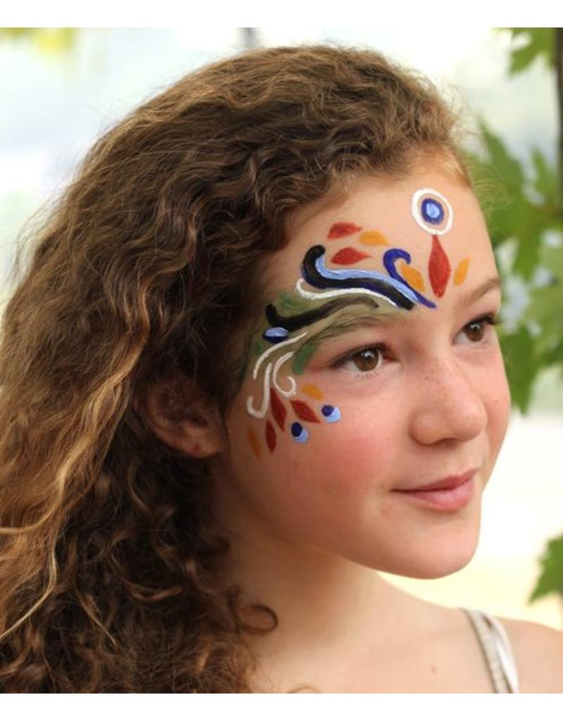 Natural Face paint and Body Paint Individual jar blue
