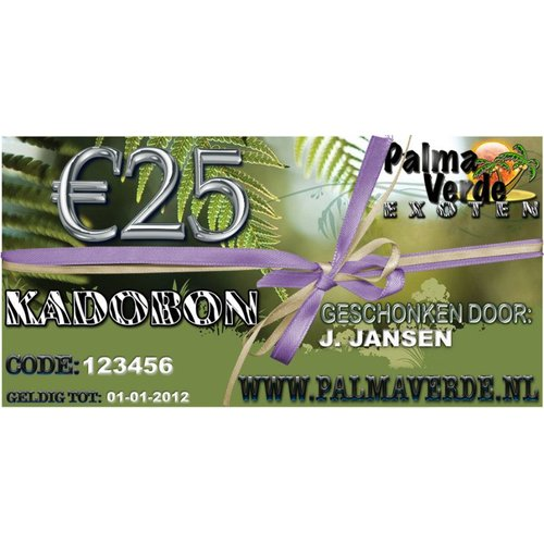 Produkten-products Gift voucher € 25