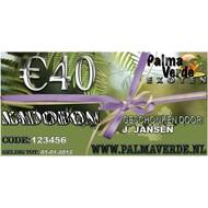 Produkten-products Gift voucher € 40