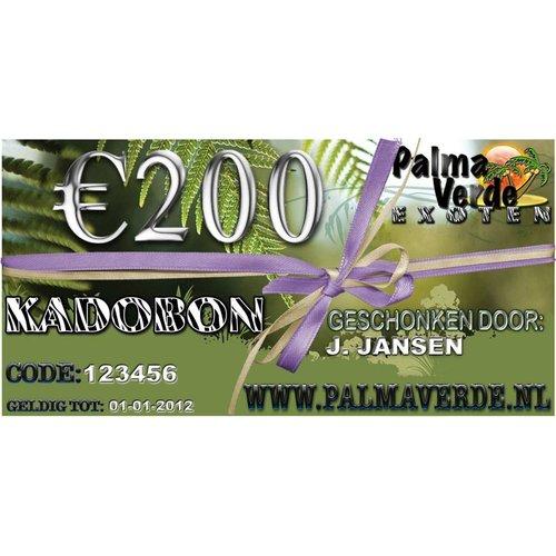 Produkten-products Kadobon € 200