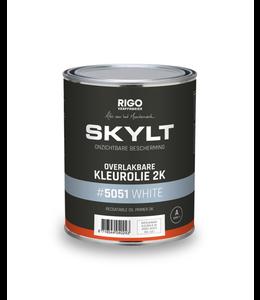 Rigostep Skylt Overlakbare  2K kleurolie White