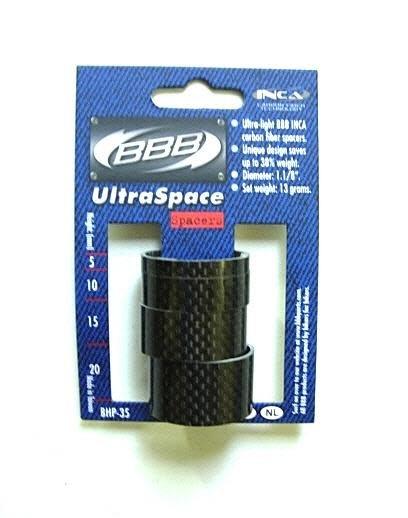 BBB BHP-35 - UltraSpace 1.1/8 Carbon Headset Spacers