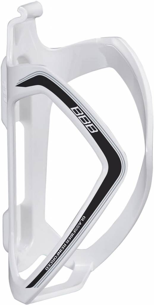 BBB BBC-36 - FlexCage Bottle Cage (White, Black Decal)