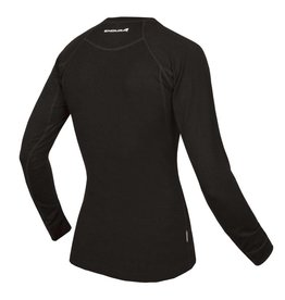 Wms Merino L/S Baselayer: Black XS