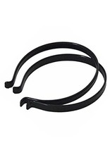 BLACK PVC COATED STEEL TROUSER BANDS: