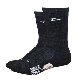 Woolie Boolie 6 inch Charcoal M socks,