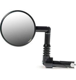 Flexible Bar End Round Mirror Silver
