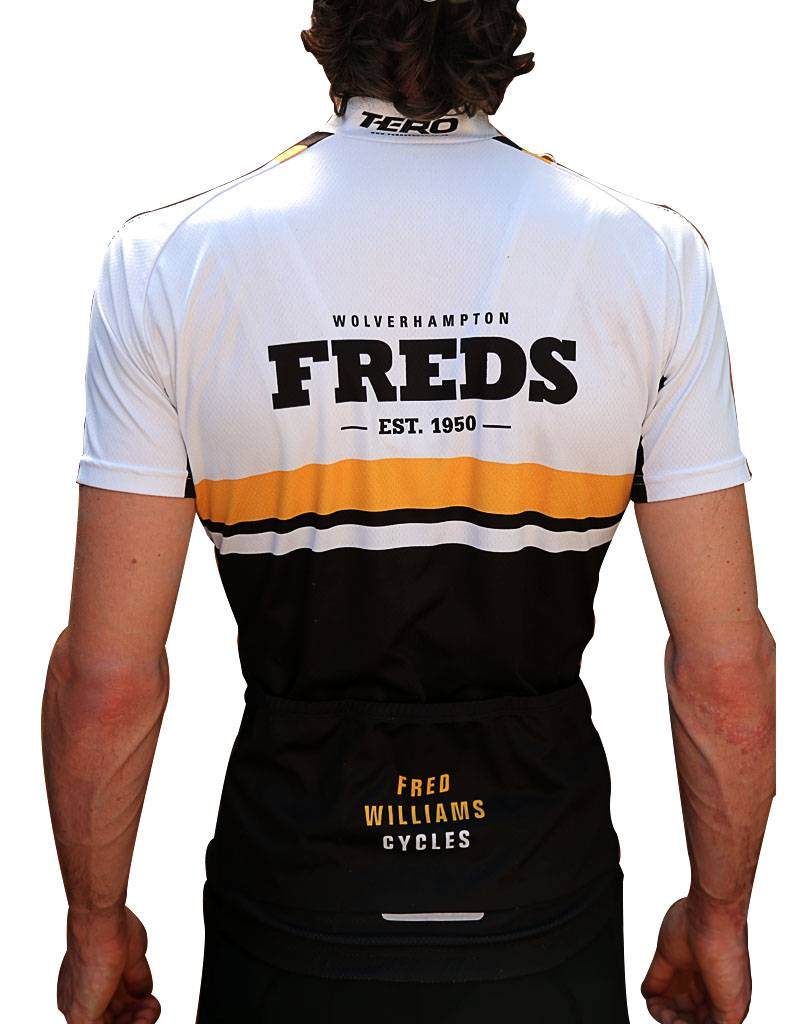 Freds Freds White and Yellow short sleeve Jersey