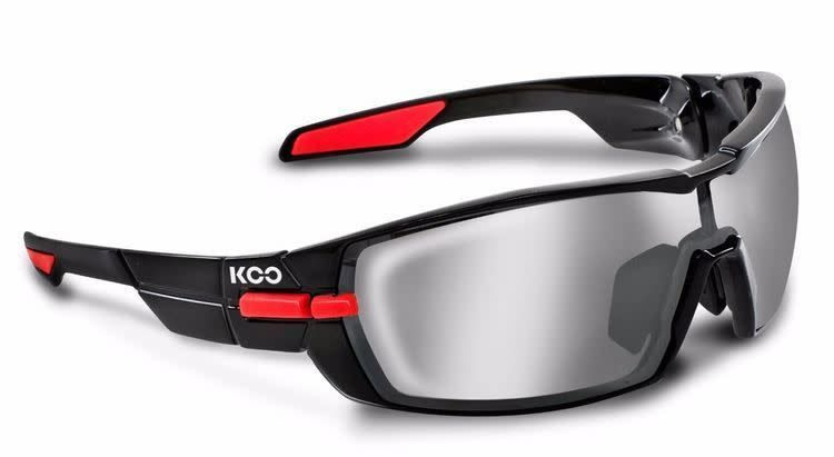 Koo Koo Open Smoke Mirror Lenses Black/Red