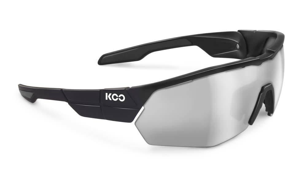 Koo Koo, Open, Black, Smoke Mirror Lenses, Medium