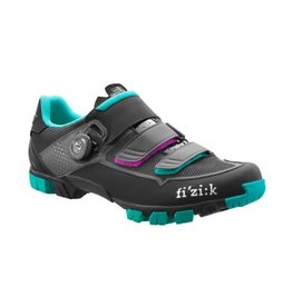 Fizik Fizik M6 Boa Woman Black/Emerald green road shoe