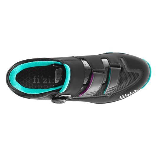 Fizik Fizik M6 Boa Woman Black/Emerald green road shoe