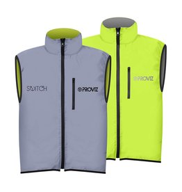 GILET MENS SWITCH SILVER/YELLOW MEDIUM