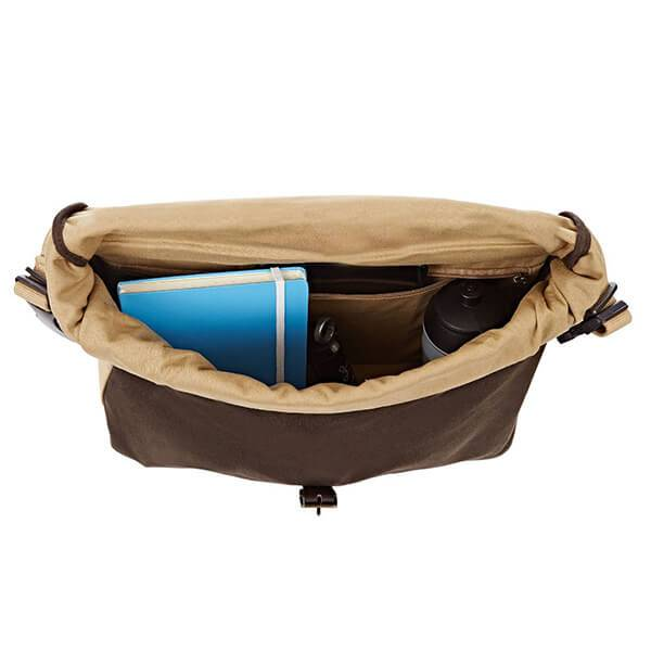 Roll Top Bag includes cover and frame Waxed Canvas Khaki