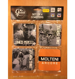 Set of 4 Coasters Eddie Merckx / Molteni Arcore