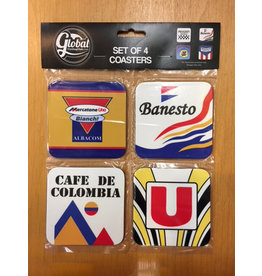 Set of 4 Coasters retro Cycle teams