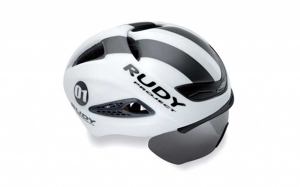 Rudy Boost 01 Helmet White/Grap Matte - L/XL + Optical sheild