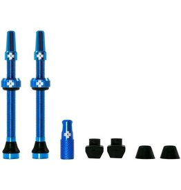 Muc-Off Muc-Off, Tubeless Valve, Presta, 60mm, blue, Pair