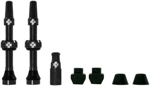 Presta Valve Stem, 44mm Universal, Pair - Black