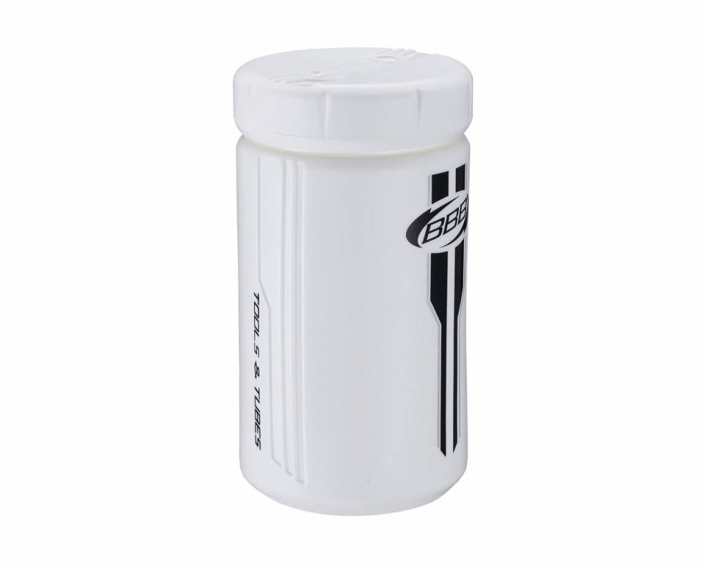 BBB BBB Tools and Tubes Storage Can White Small
