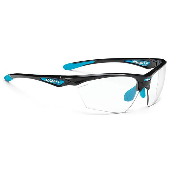RUDY Stratofly Black Gloss/ Light Blue Photo Clear Lens
