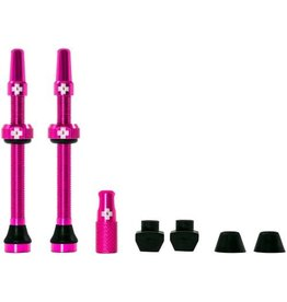 Muc-Off Muc-Off Tubeless Valve Kit: Pink, Fits Road and Mountain, 60mm, Pair