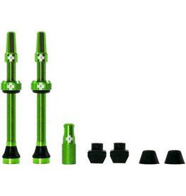 Muc-Off Tubeless Valve Kit: Green, Fits Road and Mountain, 60mm, Pair