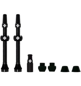 Presta Valve Stem, 60mm Universal, Pair - Black