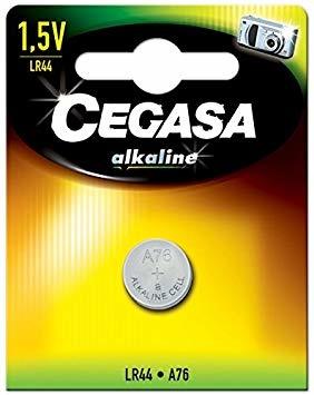 Cegasa Alkaline LR44 Computer Battery - 1 Battery