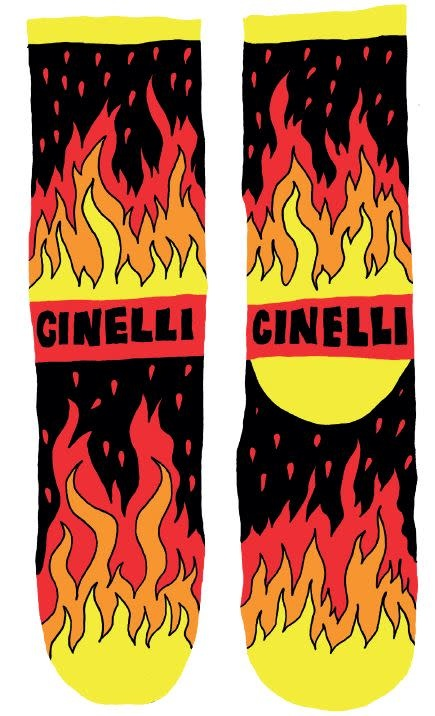 Cinelli Cinelli Flame Socks M/L