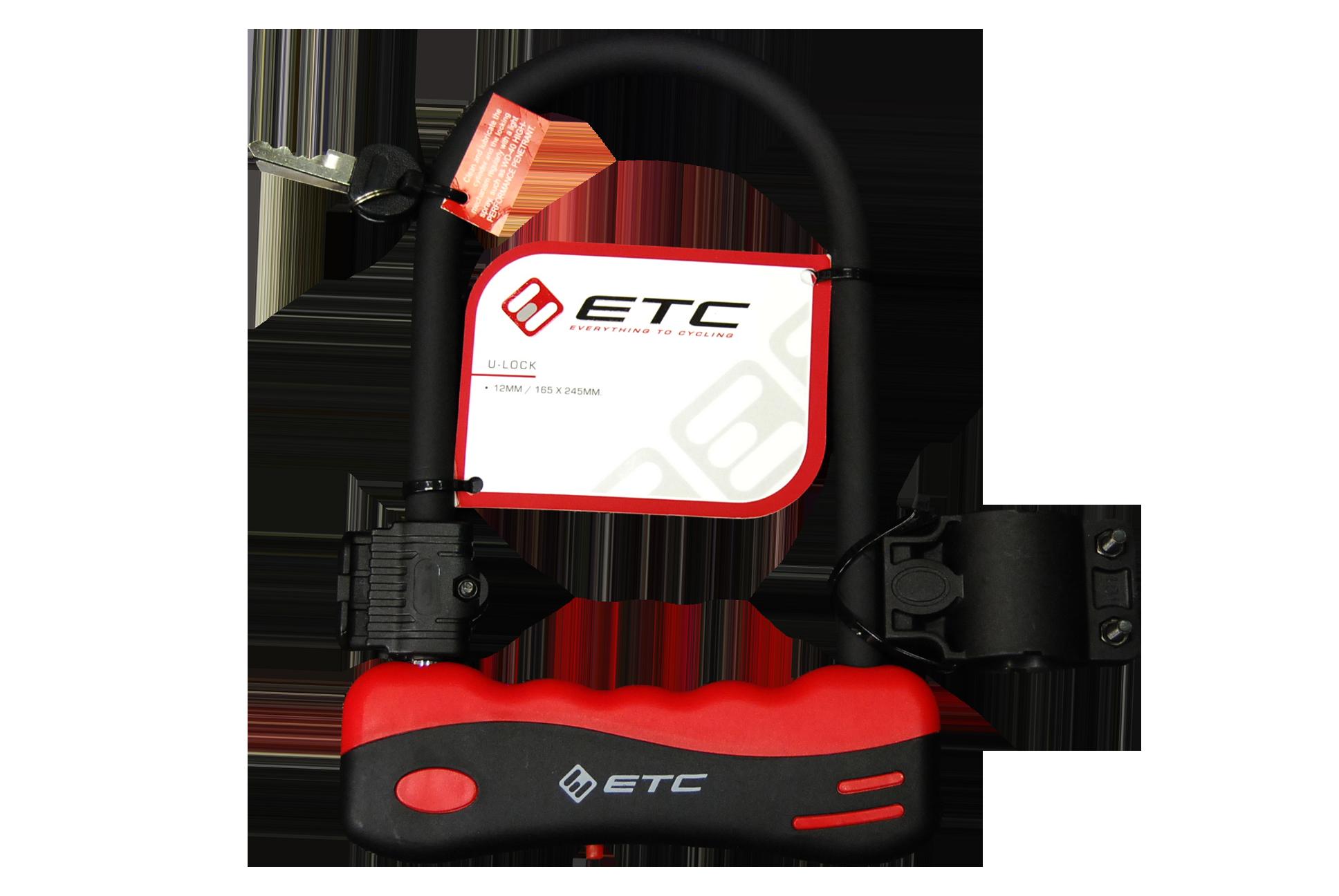 ETC U-Lock  12mm/165mmX245mm Lock