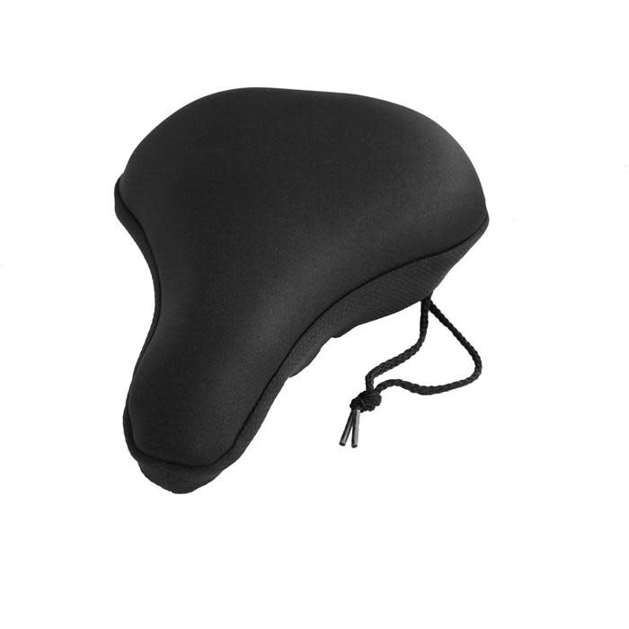 Universal fitting gel saddle cover with drawstring Black