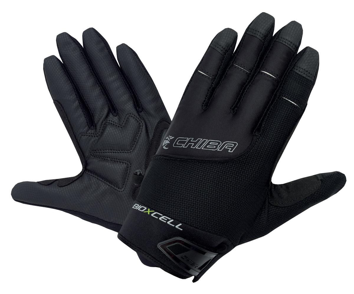 Chiba Chiba BioXCell Full Fingered Touring Gloves Black M/8