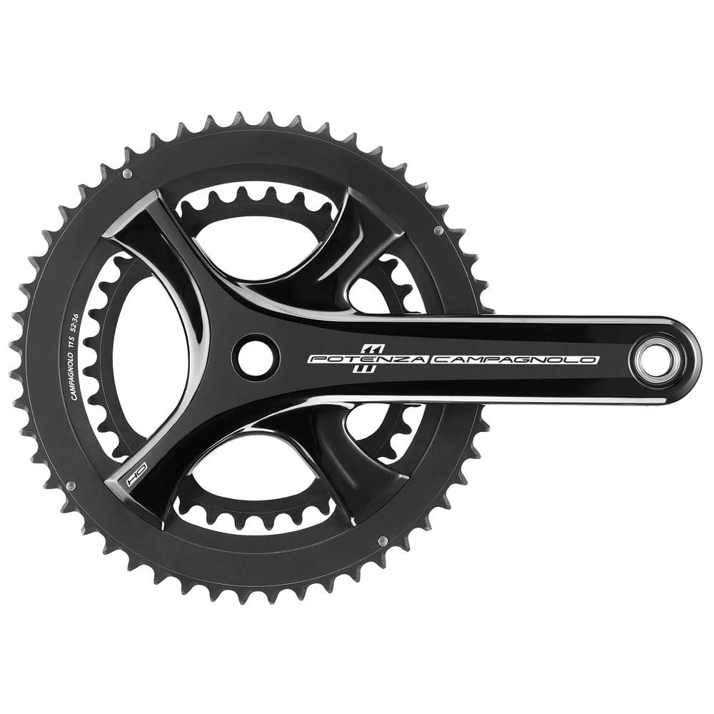 Campagnolo CAMPAGNOLO POTENZA BLACK (HO) CHAINSET ULTRA TORQUE 11 SPEED 172.5MM 50-34T (COMPATIBLE ONLY WITH PO11 HO EP18): BLACK 172.5MM 50-34T