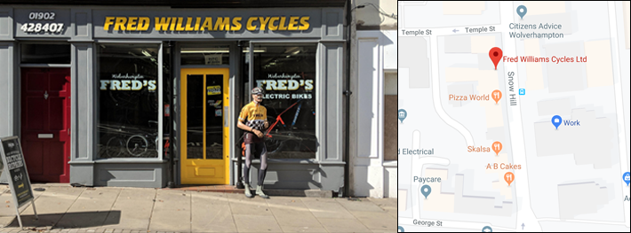 Fred williams cycles map