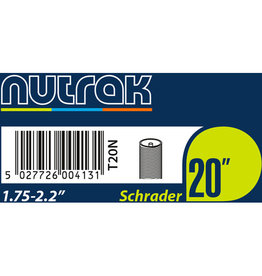 20 x 1.75 - 2.125 inch Schrader inner tube 20 x 1.75 - 2.125 inches