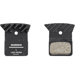 L03A disc brake pads and spring, alloy backed with cooling fins, resin
