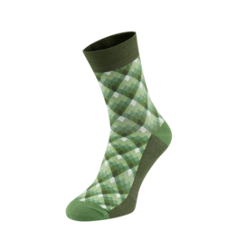 Chapeau! Chapeau Midweight cotton blend socks tall pattern woodbury