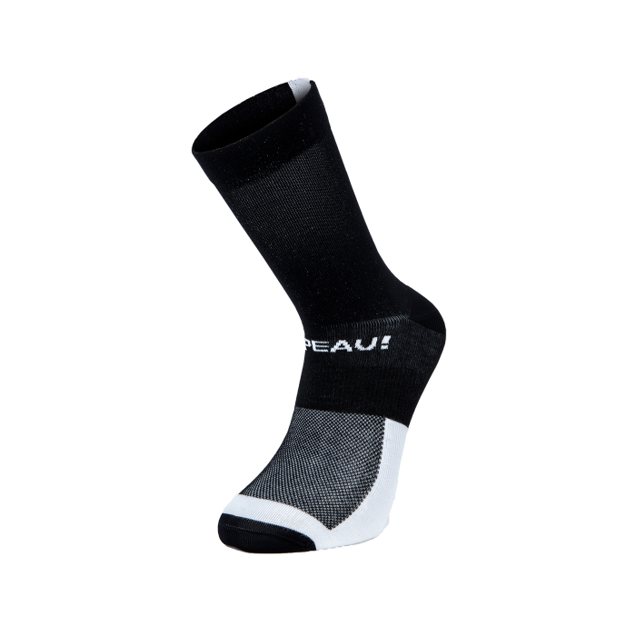 Chapeau! Chapeau!, Club Socks, Exclamation Mark, Black/White, 40-43