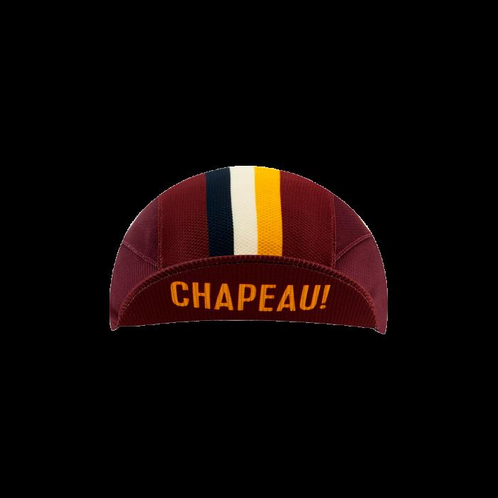 Chapeau! Chapeau!, Mens Lightweight Cap Club Stripe, Aubergine, S/M