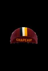 Chapeau! Chapeau!, Mens Lightweight Cap Club Stripe, Aubergine, M/L
