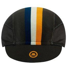 Chapeau! Chapeau!, Mens Lightweight Cap Club Stripe, Storm Grey, S/M