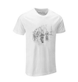 """Chapeau! Chapeau the vin denson collection, """"Legs out"""" white T-Shirt Medium"""