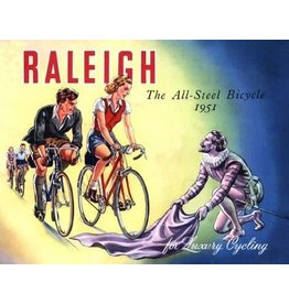 Raleigh the all street bicycle 1951 vintage keyring & photo