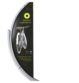 Mudguards, Part Reflective 700c x 28-45mm Two Colour Black/Silver 700c x 28-45mm