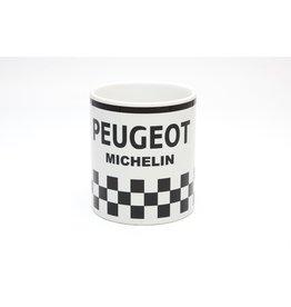 Peugeot Michelin white checkered Mug